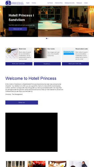 Mobile preview of hotellprincess.nu