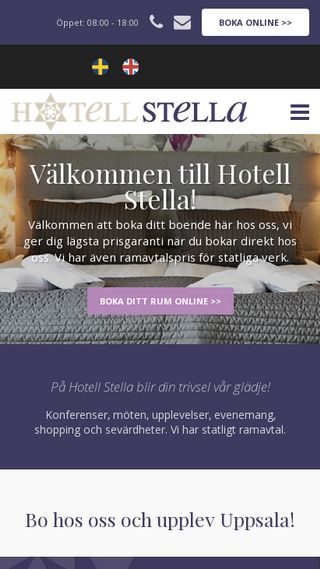 Mobile preview of hotellstella.se