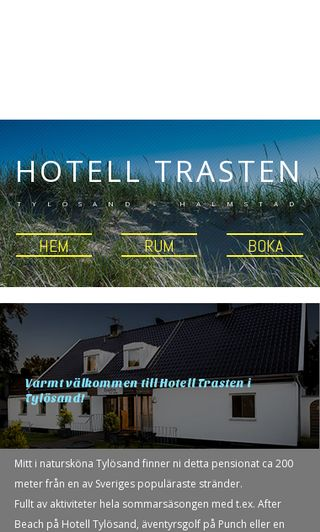 Mobile preview of hotelltrasten.se
