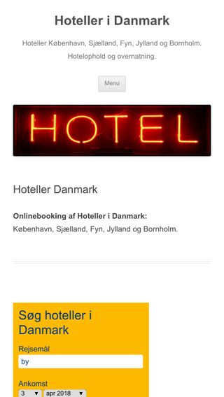Mobile preview of hotels-in-denmark.dk