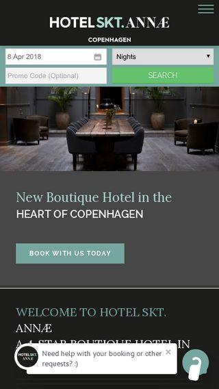 Mobile preview of hotelsktannae.dk