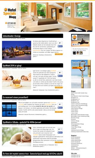 Mobile preview of hotelspecialsblogg.se