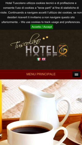 Mobile preview of hoteltuscolano.it
