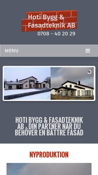 Mobile preview of hotibygg.se