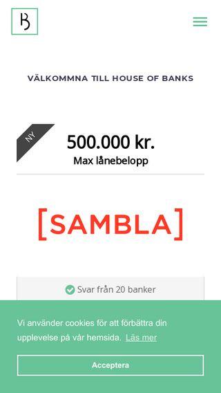 Mobile preview of houseofbanks.se