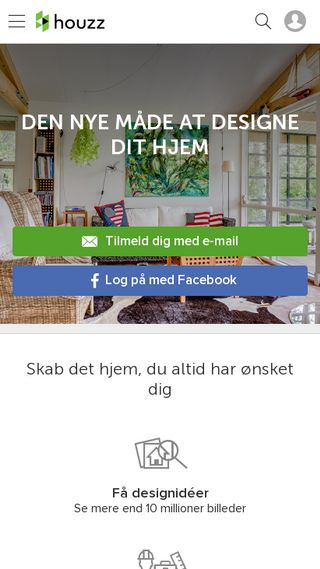 Mobile preview of houzz.dk