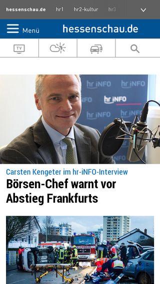 Mobile preview of hr-online.de