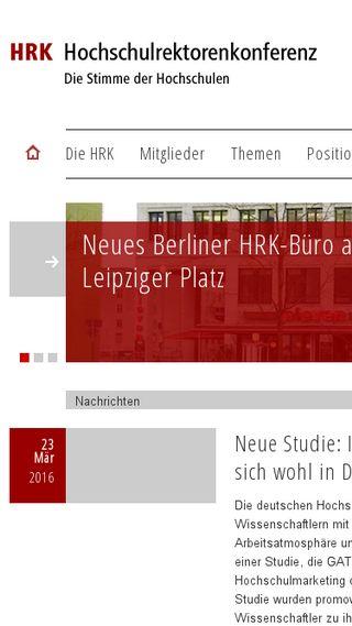 Mobile preview of hrk.de