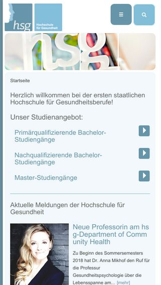 Mobile preview of hs-gesundheit.de