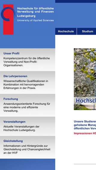 Mobile preview of hs-ludwigsburg.de