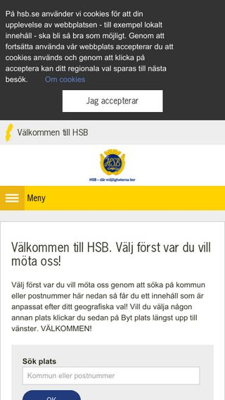 Mobile preview of hsb.se
