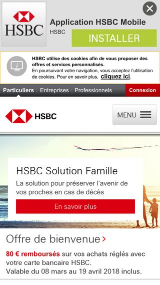 Mobile preview of hsbc.fr