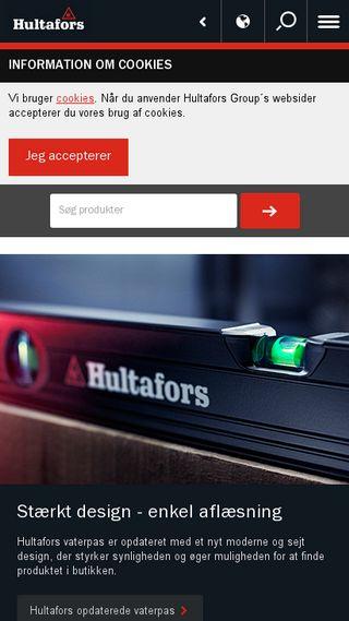 Mobile preview of hultafors.dk