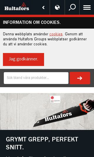 Mobile preview of hultafors.se