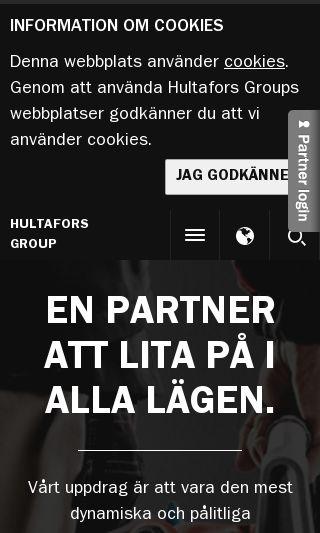 Mobile preview of hultaforsgroup.com