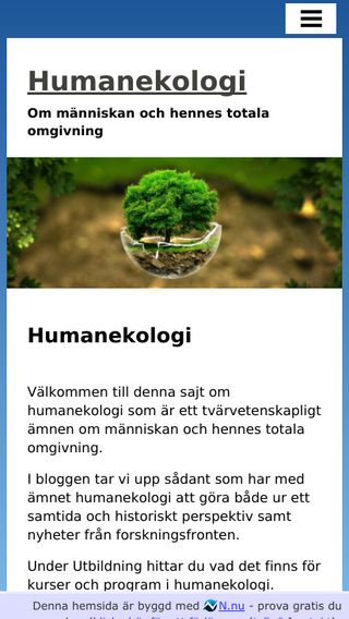 Mobile preview of humanekologi.nu