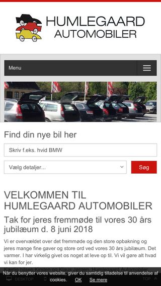 Mobile preview of humleauto.dk