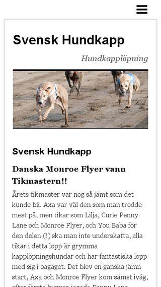 Mobile preview of hundkappsverige.n.nu