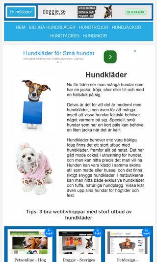 Mobile preview of hundklader.eu