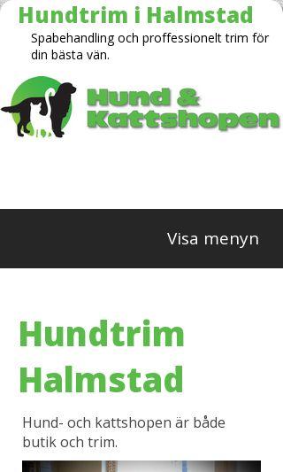 Mobile preview of hundtrim-halmstad.se