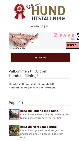 Mobile preview of hundutstallning.se