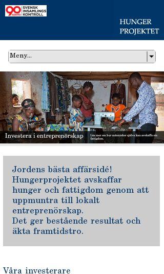 Mobile preview of hungerprojektet.se