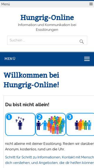Mobile preview of hungrig-online.de