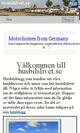 Mobile preview of husbilslivet.se