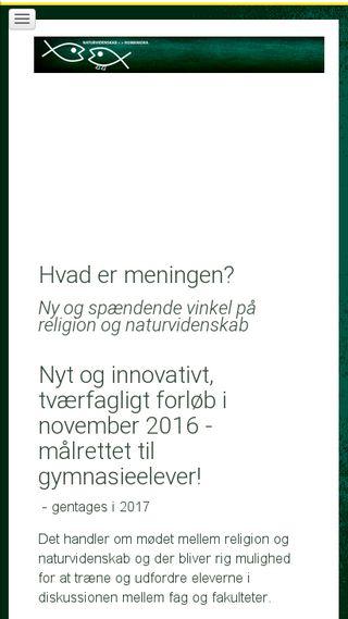 Mobile preview of hvadermeningen.nu
