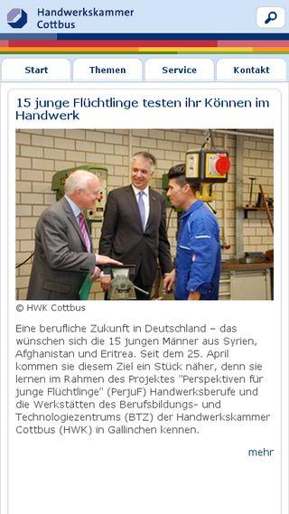 Mobile preview of hwk-cottbus.de