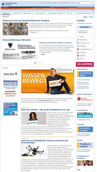 Mobile preview of hwk-hamburg.de