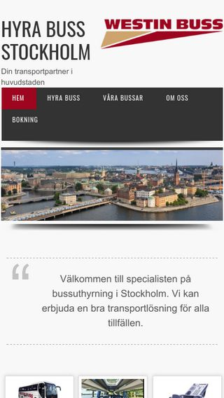Mobile preview of hyrabussstockholm.se