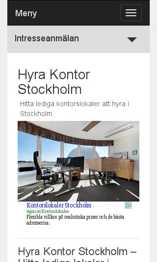 Mobile preview of hyrakontorstockholm.se