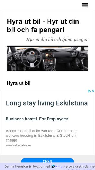 Mobile preview of hyrautbil.n.nu