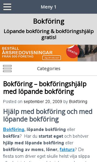 Mobile preview of ibokforing.se