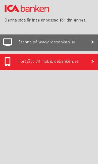 Mobile preview of icabanken.se