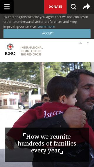 Mobile preview of icrc.org