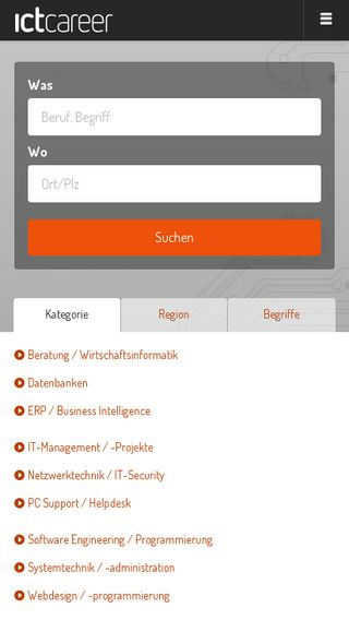 Mobile preview of ictcareer.ch