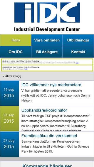 Mobile preview of idcab.se