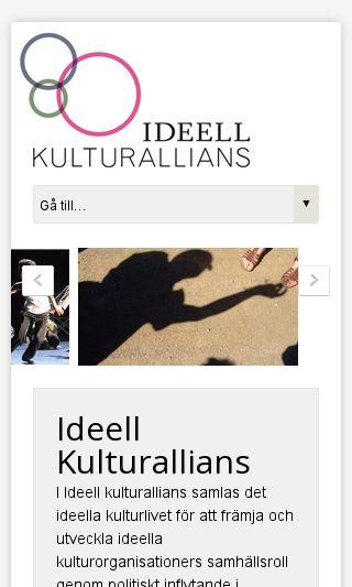 Mobile preview of ideellkultur.se
