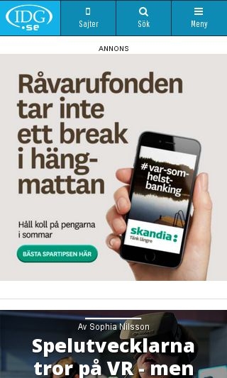 Mobile preview of idg.se