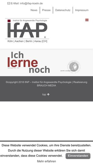 Mobile preview of ifap-koeln.de