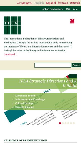 Mobile preview of ifla.org