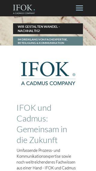 Mobile preview of ifok.de