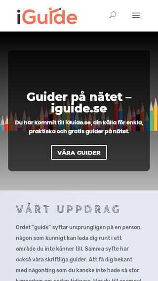 Mobile preview of iguide.se
