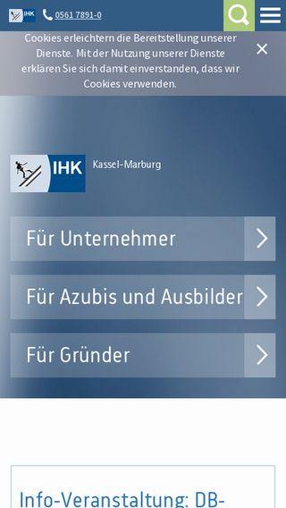 Mobile preview of ihk-kassel.de