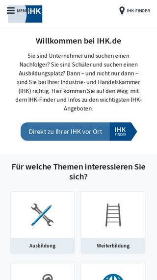 Mobile preview of ihk.de