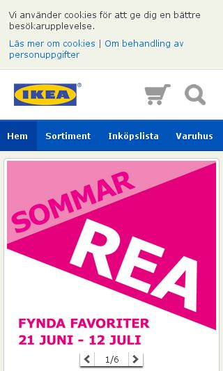 Mobile preview of ikea.se