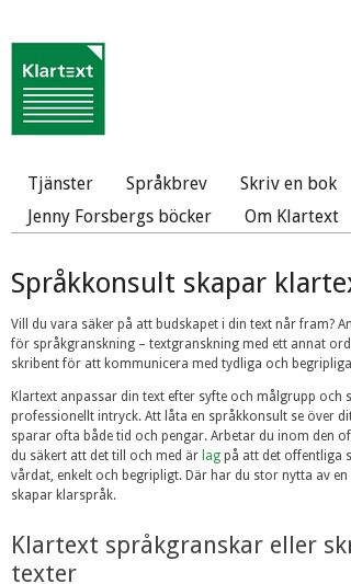 Mobile preview of iklartext.se