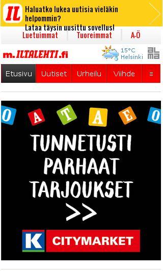 Mobile preview of iltalehti.fi